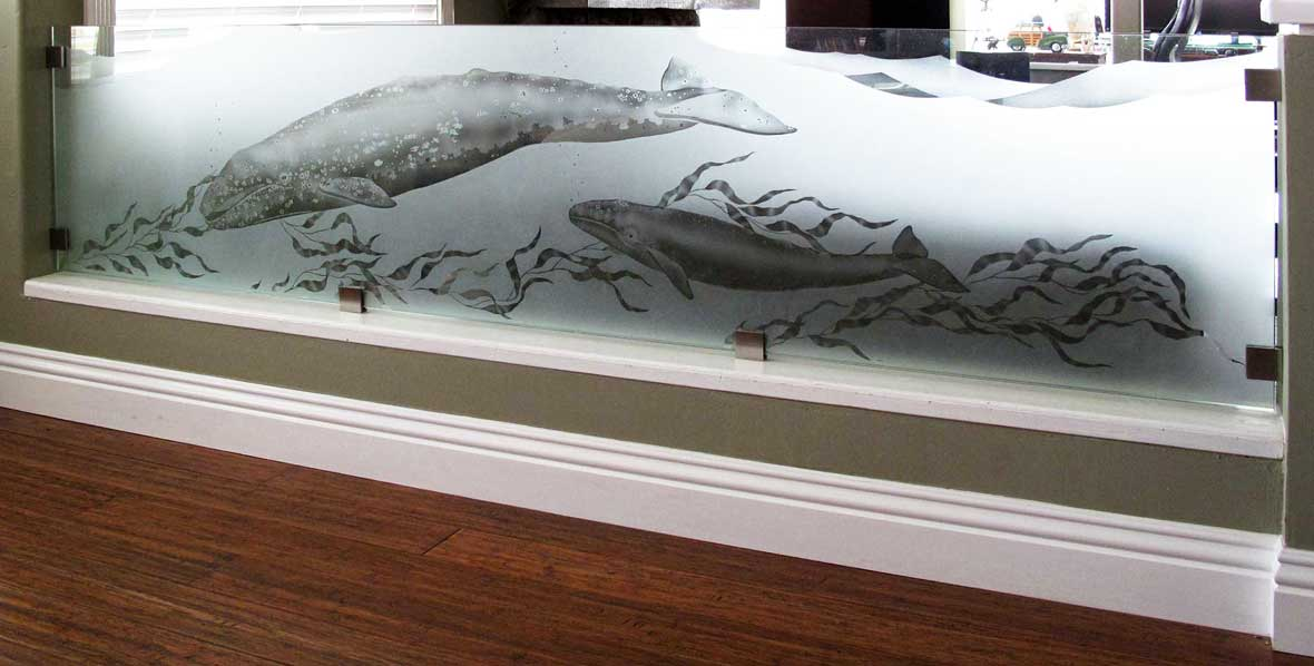 Etched Glass Wall Divider
