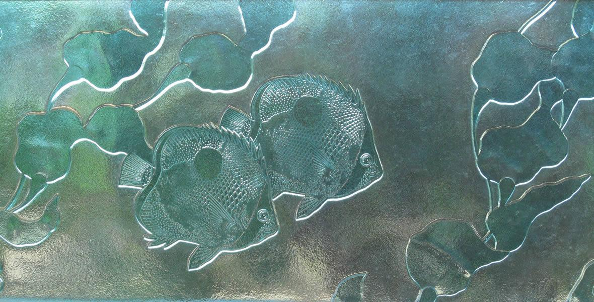 Cast Glass Reef Fish Wall Art