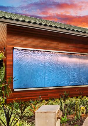 glass Hawaiian wave panels